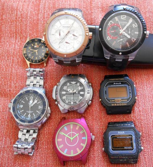 Relógios: Lote Com 8 Peças Diversas Marcas.