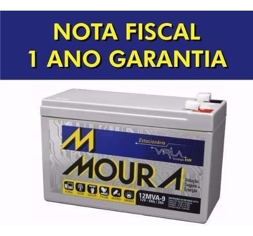 Kit 4 Bateria 12v 9ah Moura Equip Eletricos, Nobreak.