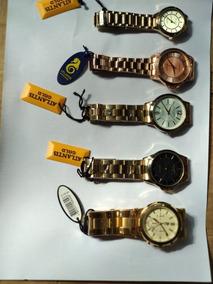 Kit 10 Relógio Masculino Dourado Atlantis W3171 Original