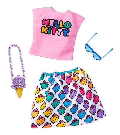 Roupa Barbie Licenciada Hello Kitty Fyw81 Blusa Rosa - Matte