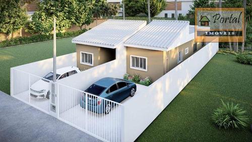 Imagem 1 de 6 de Casa Com 2 Dormitórios À Venda, 57 M² Por R$ 230.000 - Vila Primavera - Jarinu/sp - Ca0607