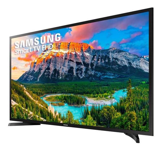 Smarttv Led 43 Full Hd Samsung 43j5290 Wi-fi Hdmi Usb Preto