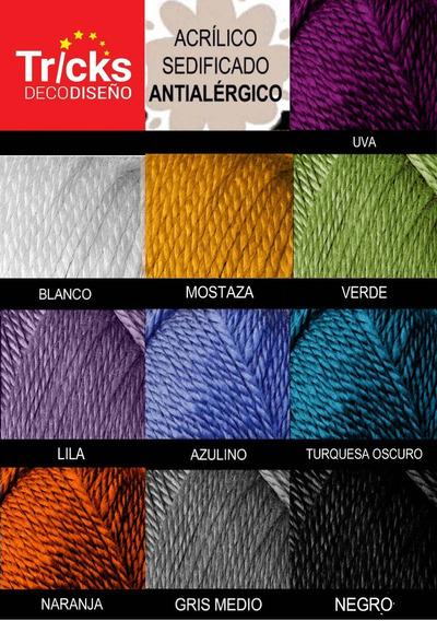Lana Acrílica Sedificada Antialérgica - Ovillos De 100g