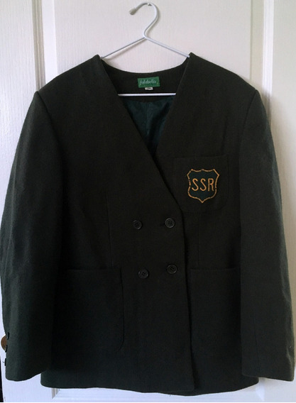 Blazer/chaqueta Escolar Verde Olivo Seminario San Rafael