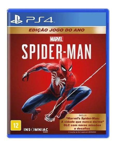 Spider Man Goty Homem Aranha Ps4 Mídia Física Português