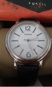 Relogio Fossil Es2705 Frete Gratis Pulseira Couro Autentico