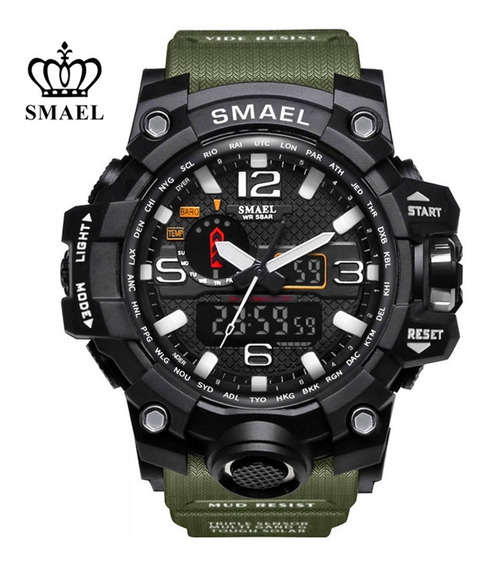 Relógio Smael - Verde Militar - Original