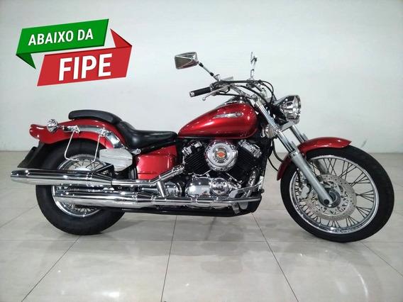 Moto Yamaha Drag Star 650cc Xvs Vermelha