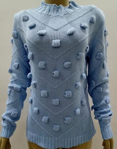 Blusa Feminina Trico Pipoca Moda Inverno  Bloguer