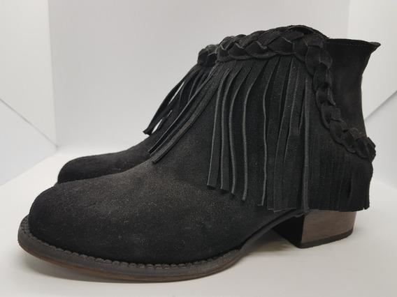 Prune Botineta De Gamuza Kinks Zapato Mujer