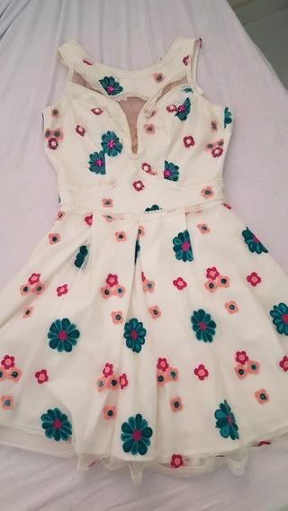 Vestido Perfect Way Organza Bordado M Festa