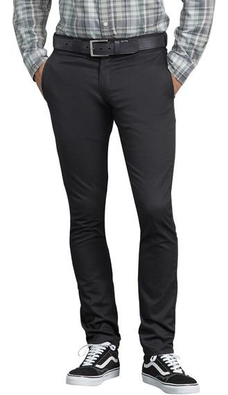 Dickies Wp801 Pantalon Entubado Skinny Gris Oscuro