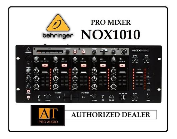 Behringer Nox1010 Pro Dj Mixer 5 Canais Ñ Numark Denon Rane