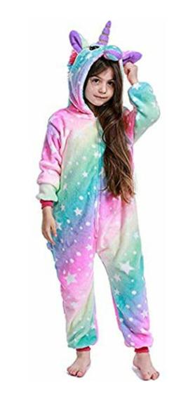 Pijama Kigurumi Enterito Unicornio Rayado Niños/adulto
