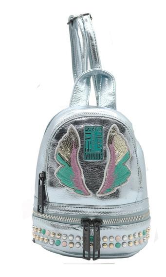 Mochila Mini Morral Mujer Urbana Cuero Pu Leblu C9174