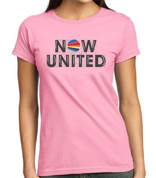 Camisa Now United Infantil Rosa Personalizada Opções Sabina