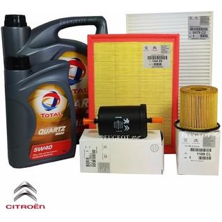 Kit 4 Filtros + Aceite Total 9000 X 5 L P/ Peugeot 307 2.0 N