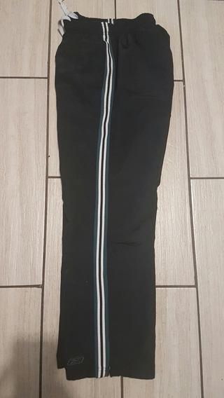 Pants Reebok Talla S Caballero Negro Detalles Verdes