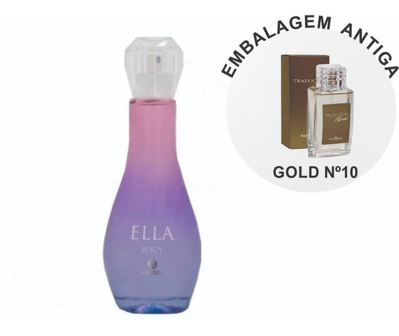 Perfume Feminino Ella Juicy Hinode 100ml Antigo Gold 10