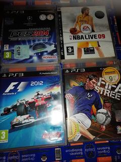 Juegos De Ps3 - Nba 09, Pes 14, F1 2012, Fifa Street Playsta