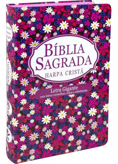 Bíblia Feminina Com Harpa Cristã Letra Gigante Cpad