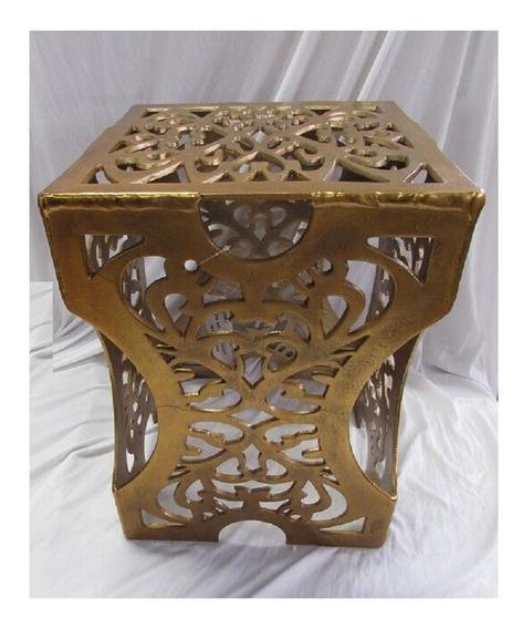 Banqueta Dourada De Alumínio Toda Detalhada Luxo 12083 Gold