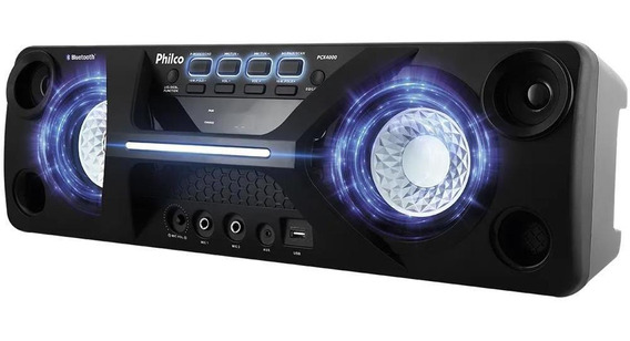 Caixa Acústica Philco Pcx4000 Bluetooth Bivolt, Preta