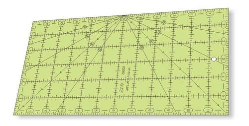 Imagem 1 de 4 de Régua Para Patchwork 6  X 12  Pol - Ângulo Na Lateral -26262