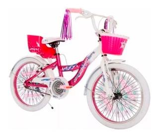 Bicicleta Raleigh Jazzi Rodado 20 Nena Infantil Niña Rosa
