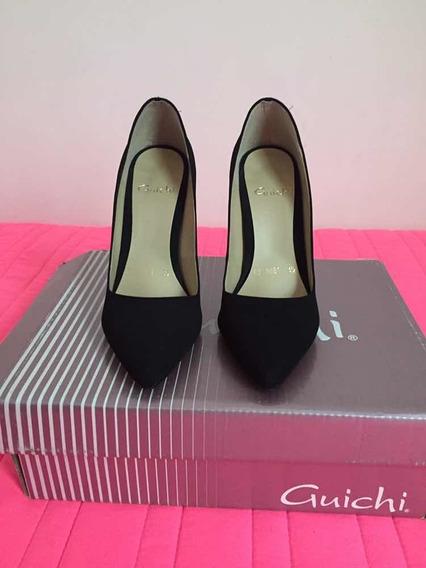 Zapatillas Negras De Gamusa