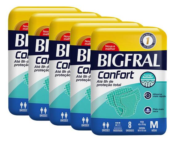 Kit De Fraldas Adultas Bigfral Confort M - 40 Unidades