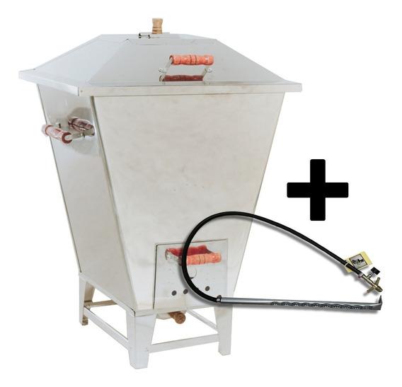 Churrasqueira Bafo Inox Carvão 20kg + Kit Gás Alta Qualidade