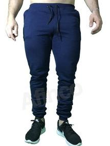 Calça Skinny Bolso Faca Moletom Masculina Academia Treino