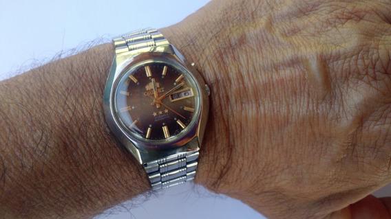 Relógio Orient Automático Degradê Raro Perfeito Marrom