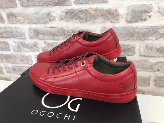 Tenis Casual De Couro Ogochi Original
