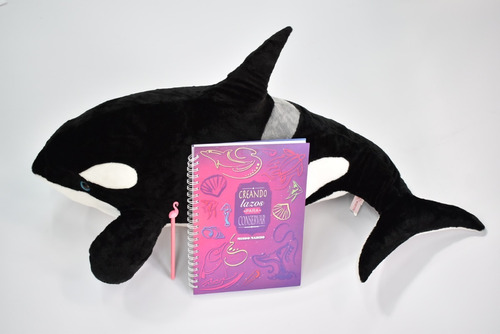 Orca 80cm X35cm-lapicera Flamenco- Cuaderno A4 Mundo Marino