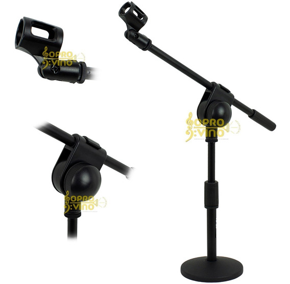 Suporte Pedestal Microfone Mesa C/ Cachimbo Smart Ts08