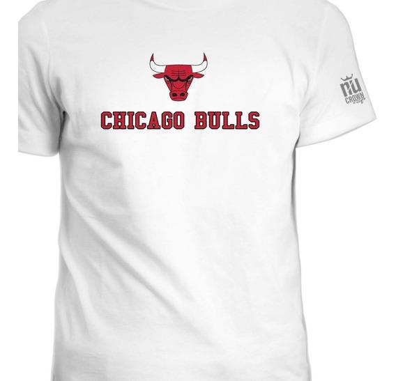 Camisetas Estampada Chicago Bulls Basketball Hombre Ink