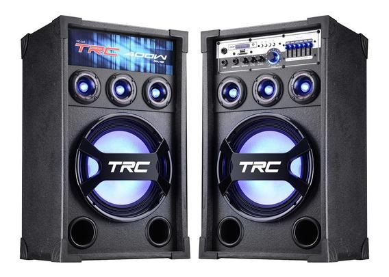 Caixa Acústica Trc 369 Bluetooth Amplificada 400w Luzes Led