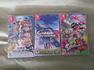 3 Juegos De Nintendo Switch Seminuevos!