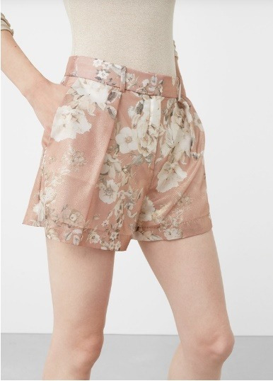 Shorts Dama Mng Estampado Floral - Talla 36