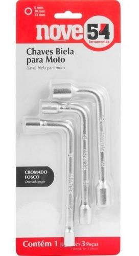 Imagem 1 de 5 de Conjunto De Chaves Biela Para Moto 8mm 10mm 12mm 3pçs Nove54