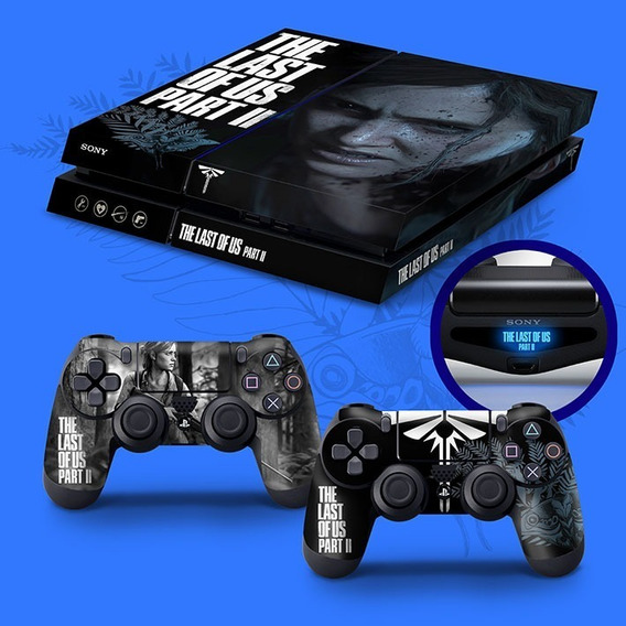 Skin Playstation 4 Fat Ps4 Adesivo The Last Of Us Part Ii 2