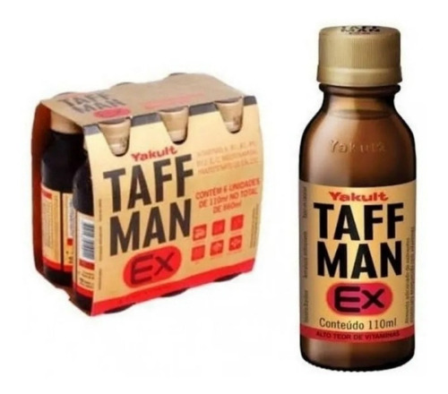 Imagem 1 de 5 de Taffman Ex Yakult 110 Ml Kit Com 6 Suplemento De Vitaminas