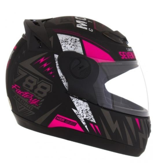 Capacete Moto Feminino G6 Protork Factory Racing