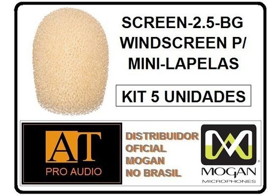 Protetor De Vento Mini Lapela Mogan Screen-2.5bg 5 Peças