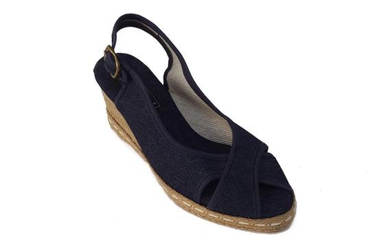 Sandalias De Mujer Cruzada Con Taco Chino - 300