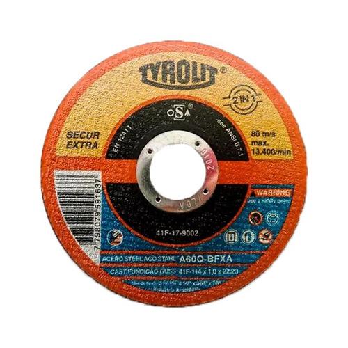 Disco De Corte - Secur 115x1,0x22,23 - Tyrolit