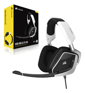 Diadema Gamer Corsair Void Rgb Elite Usb 7.1 Blanca
