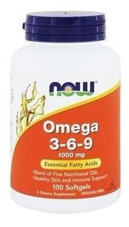 Omega 3 6 9 1000 Mg 100 Softgels Now Foods - Eua Val 09/20